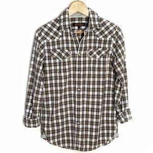 Ben Sherman Plaid Snap Down Shirt Size Small